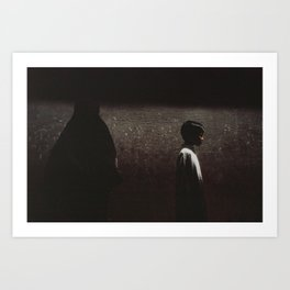 Boy at the muslim quarter, Varanasi, India. Art Print