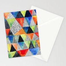 Doodled Geometry Stationery Cards