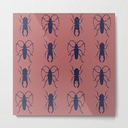 Beetle Grid V4 Metal Print
