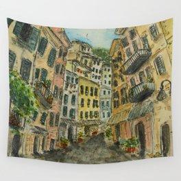 Riomaggiore Village Wall Tapestry