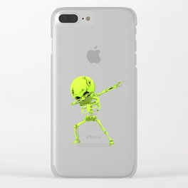 Dabbing Skeleton Clear iPhone Case