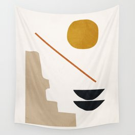 abstract minimal 6 Wall Tapestry