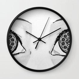 Oreo Eyes Wall Clock