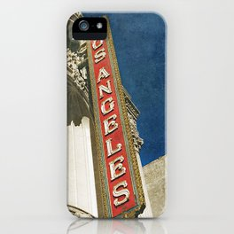 1931 Los Angeles Theatre Vintage Sign iPhone Case