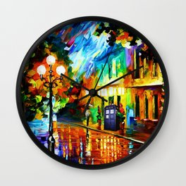 Tardis Art And The Light Street Wall Clock