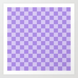 Lavender Check Art Print