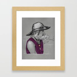 Casual Witch Framed Art Print