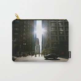 Sun Between Buildings Carry-All Pouch