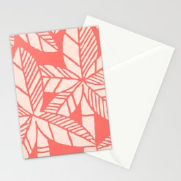 Tropical Palm Tree Composition Coral Stationery Cards