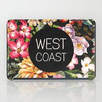 west coast iPad Cases featuring West Coast by Text Guy