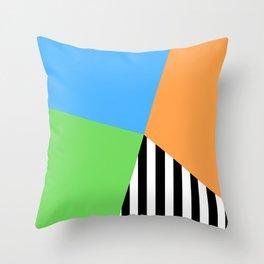 Crazy Stripe Sectors Throw Pillow