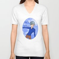 jack frost V-neck T-shirts featuring Jack Frost by AlysIndigo