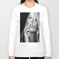 kate moss Long Sleeve T-shirts featuring KATE MOSS by I Love Decor