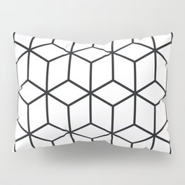Optical Illusion  in Black and White Pillow Sham