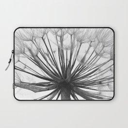 Black and White Dandelion Laptop Sleeve