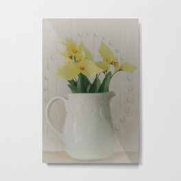 PITCHER OF FLOWERS Metal Print