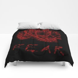 Fear (Red) Comforters