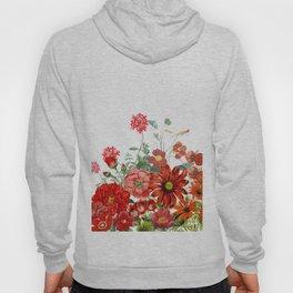 Vintage & Shabby Chic - Red Summer Flower Garden Hoody