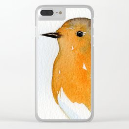 Robins in Love Clear iPhone Case