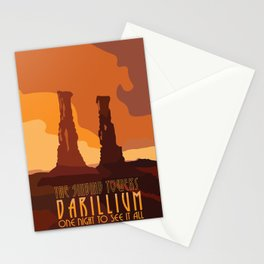 Doctor Who Singing Towers of Darillium Stationery Cards