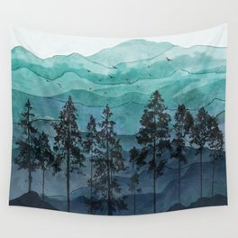 Mountains II Wall Tapestry