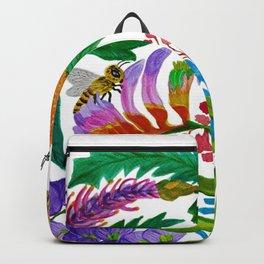 Australian native flowers wreath Backpack