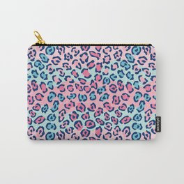 Wildcat Spots Pattern in Pink and Blue Carry-All Pouch