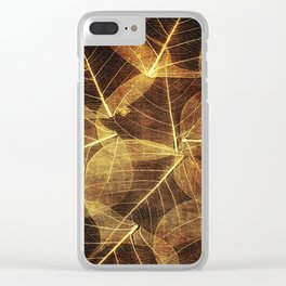 Autumn Leaves (Falls Leaf Pattern) Clear iPhone Case