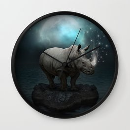 Power Is No Blessing In Itself v.2 (Protect the Rhino)  Wall Clock