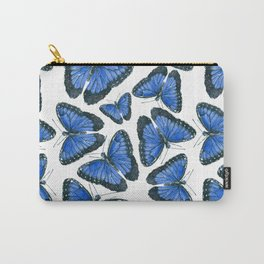 Blue morpho butterfly pattern design Carry-All Pouch