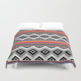 Ethnic and multicolored stripes Duvet Cover