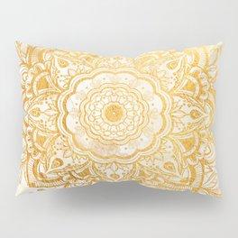 Queen Starring of Mandala-Gold Sunflower II Pillow Sham