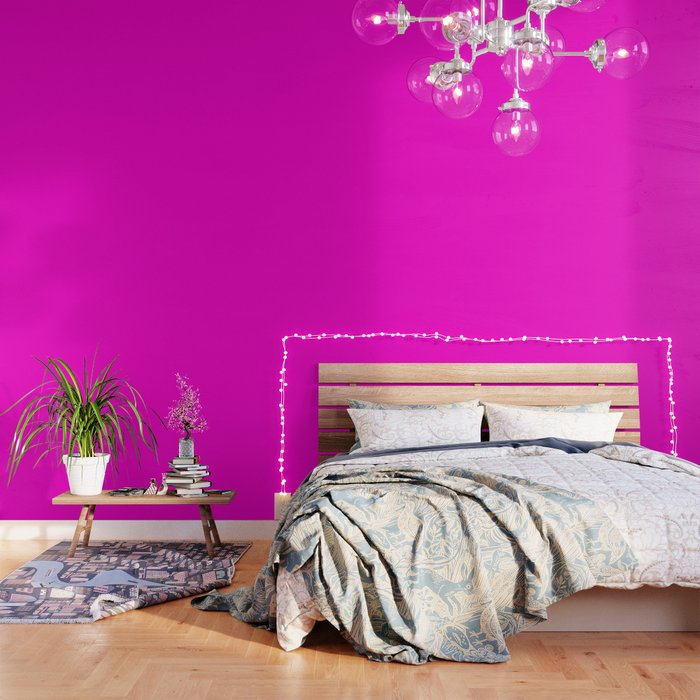 Pink Neon Color Bright Summer Wallpaper By Palitraart