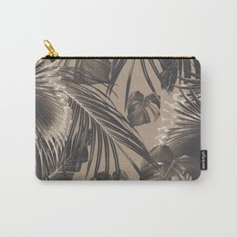 Tropical Jungle Leaves Dream #5 #tropical #decor #art #society6 Carry-All Pouch