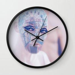 Wonder wheel portrait Wall Clock