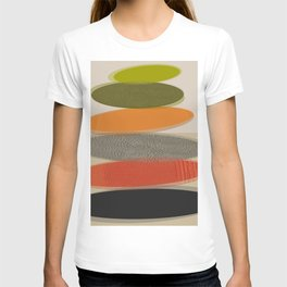 Mid-Century Modern Ovals Abstract T-shirt