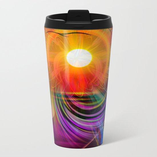 Abstract - Perfkektion - Sunset Metal Travel Mug