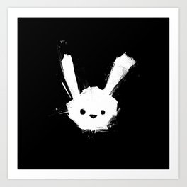 minima - splatter rabbit  Art Print