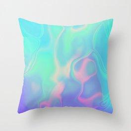 Rainbow Sea Throw Pillow