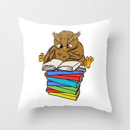 Are You An Owl Lover? A Perfect Owls Tee For You Made of Tools Owlet T-shirt Design Nocturnal Throw Pillow