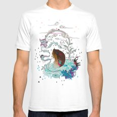 Delicate Distraction White MEDIUM Mens Fitted Tee