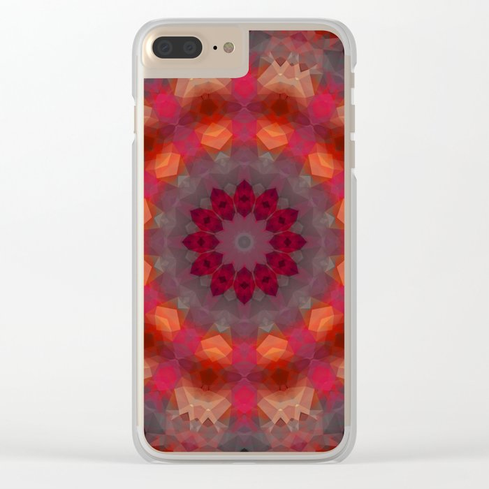 Colorful ethnic round pattern . Kaleidoscope. Clear iPhone Case