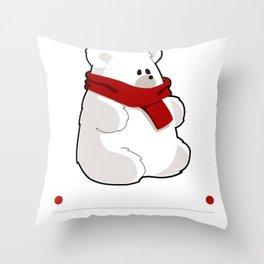 Polar Brrrr Cute Bear Pun Throw Pillow