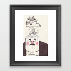 Rainy Day Up There Framed Art Print