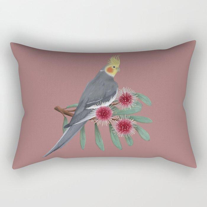 Normal Grey Cockatiel Rectangular Pillow