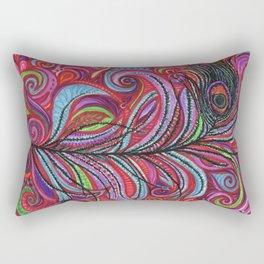 A Bright Feather Rectangular Pillow