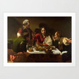 The Supper at Emmaus, Caravaggio, 1601 Art Print