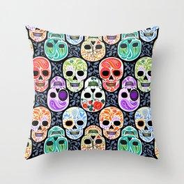 Calaveras_ Sugar Skulls_Celebracion del Color_RobinPickens Throw Pillow
