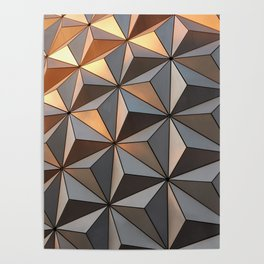 Triangle pattern 3d Poster