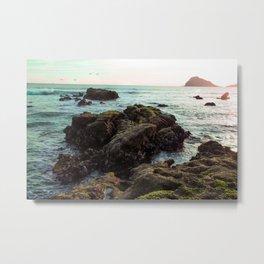 Rocks in the Sea Metal Print